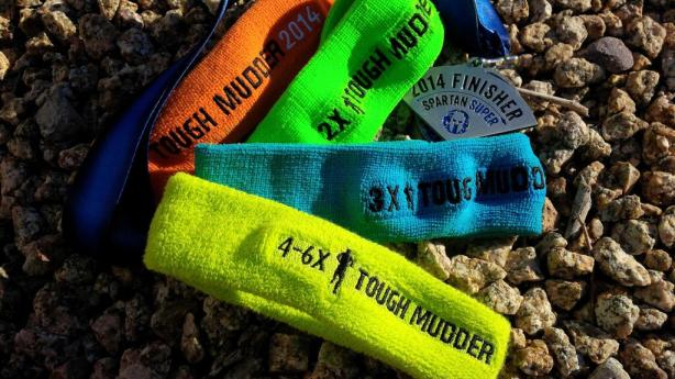 My Tough Mudder Legionnaire headbands and Super Spartan medal!